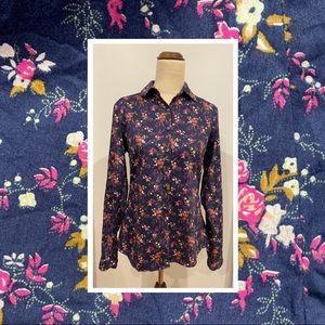 Park Avenue long sleeve collared cotton blouse